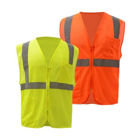 03f7da3204f Standard Class 2 Mesh Zipper Safety Vest